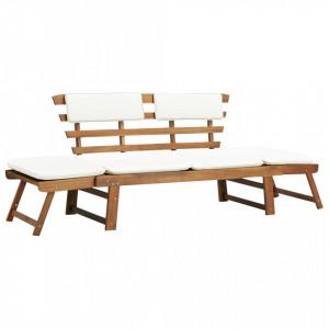 Sezlong/Banca gradina, lemn masiv de acacia, 190 x 66 x 75 cm - V42647V