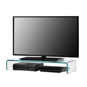 Suport pentru monitor Pretoria T80, 80 x 30 x 13 cm, sticla, transparent - P70550049