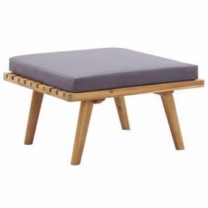Taburet de gradina cu perna, 60 x 60 x 29 cm, lemn masiv acacia - V46674V