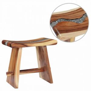 Taburet din lemn masiv de suar si polirasina - V281647V