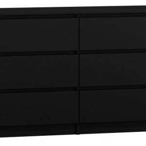 TECON105 - Comoda 138 x 40 x 77 cm, Negru-Mat