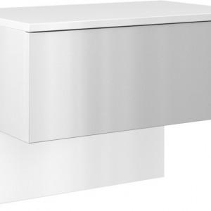 TENOA106 - Noptiera 61 x 35 x 46 cm, Alb-Lucios