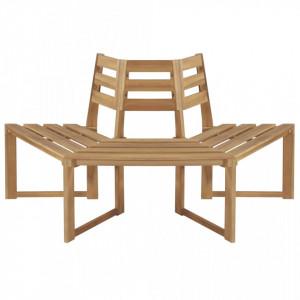 Banca de copac semihexagonala 160 cm lemn masiv de acacia - V44251V
