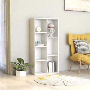 Biblioteca, alb extralucios, 50 x 25 x 106 cm, PAL - V801113V