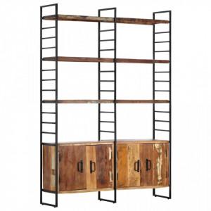 Biblioteca cu 4 rafturi, 124 x 30 x 180 cm, lemn masiv reciclat - V284415V