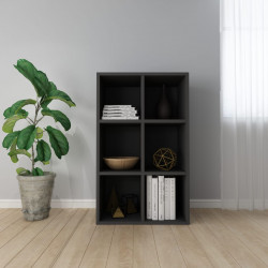 Biblioteca/Servanta, negru, 66 x 30 x 97,8 cm, PAL - V800343V