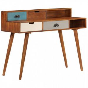 Birou de scris, 110x50x90 cm, lemn masiv de acacia - V247937V