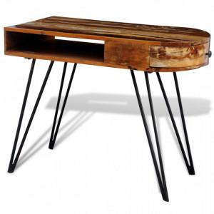 Birou din lemn reciclat cu picioare metalice - V241641V