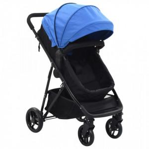 Carut/landou pentru copii 2-in-1, albastru si negru, otel - V10160V