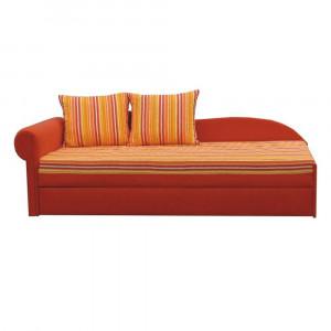 Colţar extensibil, portocalie/cu model dungi, stânga, AGA D