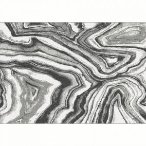 Covor, alb/negru/model, 133x190, SINAN