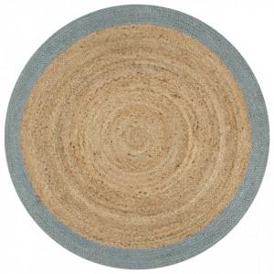 Covor manual cu margine maslinie, 150 cm, iuta - V133682V