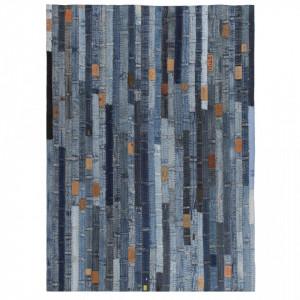 Covor petice jeans 160x230 cm Albastru denim - V132630V