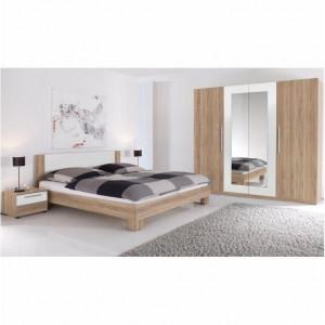 Dormitor, complet, stejar sonoma/alb, MARTINA