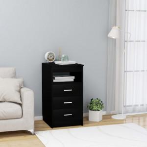 Dulap cu sertare, negru, 40 x 50 x 76 cm, PAL - V801806V