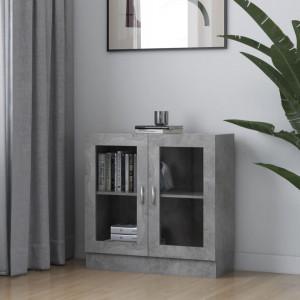 Dulap cu vitrina, gri beton, 82,5 x 30,5 x 80 cm, PAL - V802745V