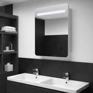 Dulap de baie cu oglinda si LED-uri, 60 x 11 x 80 cm - V285118V