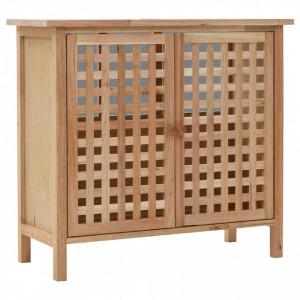 Dulap de chiuveta, lemn masiv de nuc, 66 x 29 x 61 cm - V247097V
