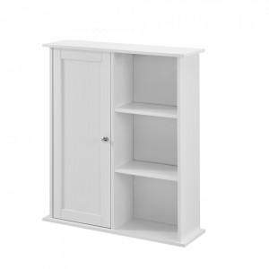 Dulap de perete Emilia pentru camera de baie, 71 x 60 x 18 cm, placa MDF, lacuit, alb - P57498339