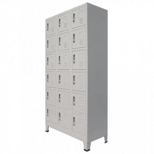 Dulap de vestiar cu 18 compartimente, metal, 90x40x180 cm - V245966V