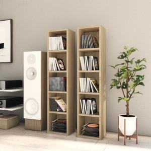Dulapuri CD-uri, 2 buc., stejar Sonoma, 21x16x93,5 cm, PAL - V802699V
