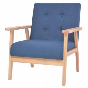 Fotoliu, albastru, material textil - V244654V