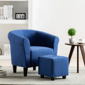 Fotoliu, albastru, material textil - V248029V
