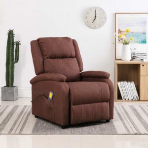Fotoliu de masaj rabatabil, maro, material textil - V248700V