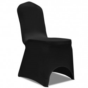 Huse de scaun, elastice, 100 buc, negru - V274766V