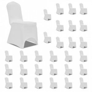 Huse de scaun elastice, 30 buc., alb - V3051637V