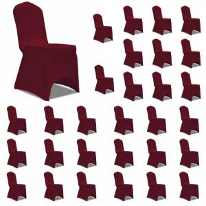 Huse elastice pentru scaun, 30 buc., visiniu - V3051646V