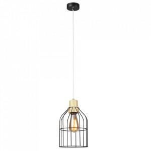 Lampă suspendată, neagră / metalică, ASTOK