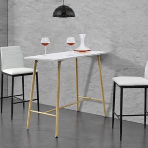 Masa bar Enkoping Weib, 110 x 50 x 90 cm, MDF/metal, alb - P69369739