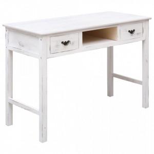 Masa consola, alb antichizat, 110 x 45 x 76 cm, lemn - V284162V