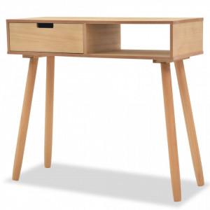 Masa consola, lemn masiv de pin 80x30x72 cm, maro - V244739V