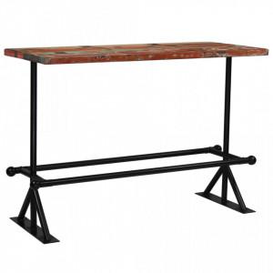 Masa de bar, lemn masiv reciclat, multicolor, 150 x 70 x 107 cm - V245388V