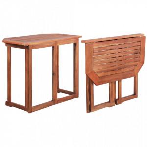 Masa de bistro, 90 x 50 x 75 cm, lemn masiv de acacia - V44039V