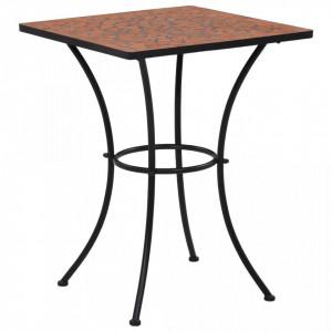 Masa de bistro mozaic, caramiziu, 60 cm, ceramica - V46705V