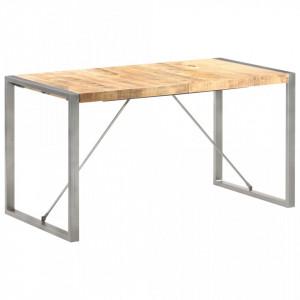 Masa de bucatarie, 140 x 70 x 75 cm, lemn masiv mango nefinisat - V321562V