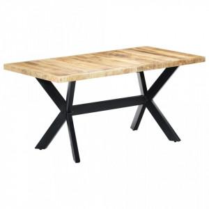 Masa de bucatarie, 160x80x75cm, lemn masiv de mango nefinisat - V247433V