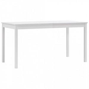 Masa de bucatarie, alb, 140 x 70 x 73 cm, lemn de pin - V283399V