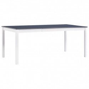 Masa de bucatarie, alb si gri, 180 x 90 x 73 cm, lemn de pin - V283406V