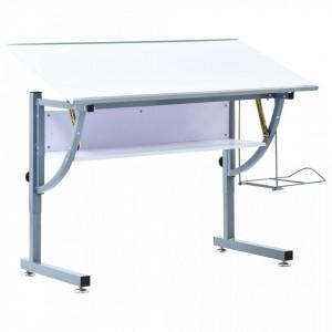 Masa de desen pentru adolescenti, alb, 110 x 60 x 87 cm, MDF - V287450V
