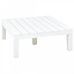 Masa de gradina, alb, 78 x 78 x 31 cm, plastic - V48827V