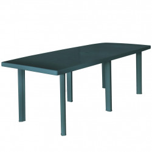 Masa de gradina, verde, 210 x 96 x 72 cm, plastic - V43596V