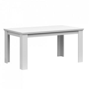 Masă de luat masa pliabilă, 160 / 200cm, albă, ARYAN