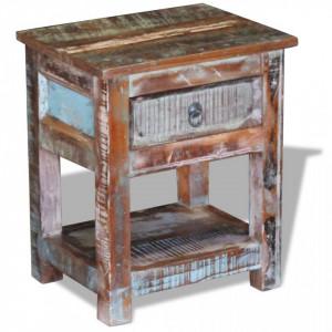 Masa laterala cu un sertar din lemn solid de mango, 43 x 33 x 51 cm - V243456V