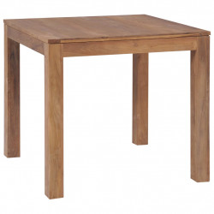 Masa, lemn masiv de tec cu finisaj natural, 82 x 80 x 76 cm - V246954V