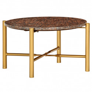 Masuta de cafea maro 60x60x35 cm piatra cu textura de marmura - V286451V
