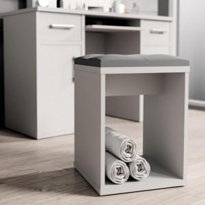 MBSC1 - Scaun drept pentru masuta toaleta machiaj cosmetica - Alb, Sonoma